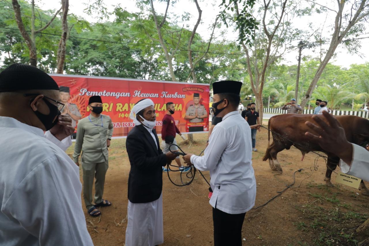 Hari Raya Idul Adha 1441 H Polda Kepri dan Jajaran Sembelih 43 Ekor Sapi dan 34 Ekor Kambing